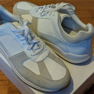 """Mens VINCE """"Griffin"""" Suede-Trim Leather Sneakers"""